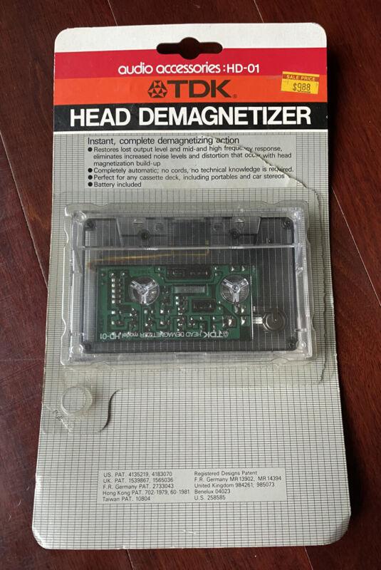 VG TDK Cassette Tape Head Demagnetizer HD-01 In Original Package