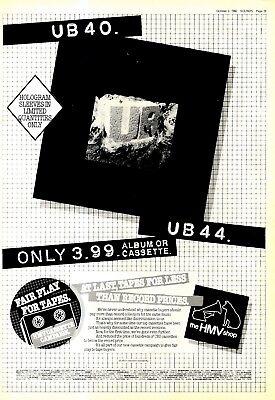 "NPBK32 ADVERT 15X11"" UB40 : UB44 ALBUM"