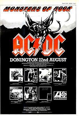 "NPBK32 ADVERT 15X11"" AC/DC @ MONSTERS OF ROCK 1981"