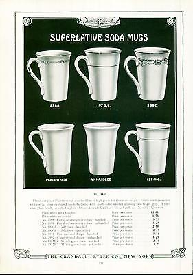 Catalog Page Ad Pettee Co Soda Mugs Hot Chocolate Soda Fountain Supply 1922