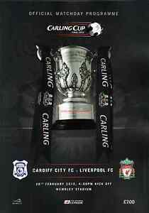 * 2012 CARLING CUP FINAL PROGRAMME - CARDIFF CITY v LIVERPOOL *