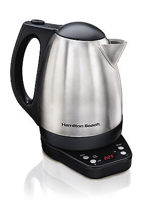 Hamilton Beach 1500W 1.7 L Variable Temperature Electric Kettle, Stainless Steel