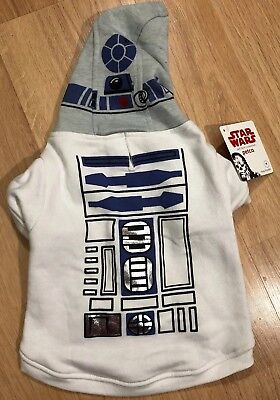 Dog Clothing STAR WARS R2D2 Shirt With Hood NWT Size Large