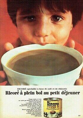 Publicité Advertising 520 1967 Ricoré boisson petit déjeuner café & chicorée