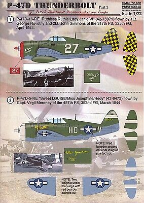 (Print Scale Decals 1/72 REPUBLIC P-47D THUNDERBOLT