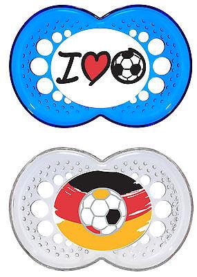 MAM Schnuller Original Silikon Fussball 6-16 Monate Doppelpackung *NEU*