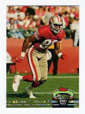 1992 Jerry Rice (JERRY RICE 1992 STADIUM CLUB SHORT PRINT 49ERS CARD)