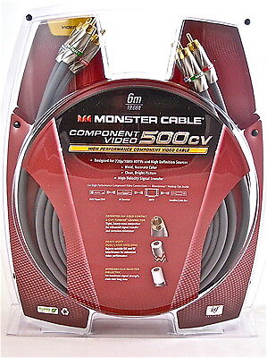 Monster 500cv High Performance YPbPr Component Video Cable 6M/19.69FT 127642-00 6m Component-video