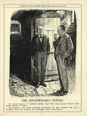 Baldwin Magazin (VINTAGE 1926 POLITICAL CARTOON - WINSTON CHURCHILL - PUNCH MAGAZINE [S. BALDWIN])