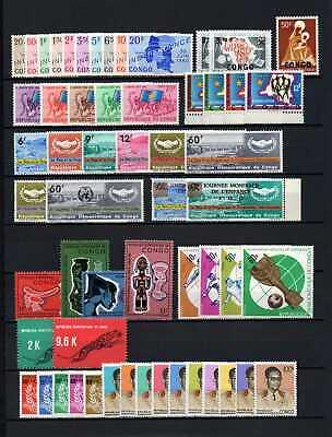 Belgisch Congo Belge - Rep. Congo Kinshasa Collection MH sets (6) c43.60Eu.