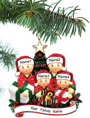 (Personalized Christmas Tree Ornaments Family of 2 3 4 5 Holiday Gift Ornament)