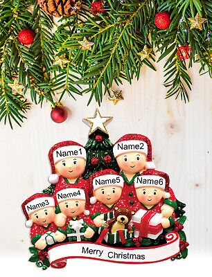 Personalized Christmas Tree Ornament Holiday Gift Gift Box Family of 2-3-4-5-6