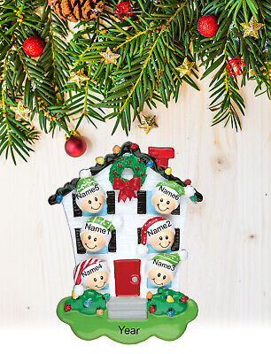 Personalized Christmas Tree Ornament Holiday Gift, House for Family of 2-3-4-5-6 ()