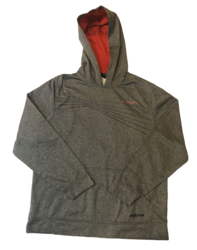 BAUER Hockey Vapor Hoodie Size Large Heather Gray Pullover