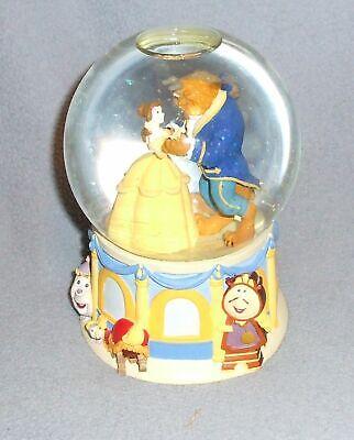 Beauty And The Beast Musical Snow Globe 1991 Rare Disney Enesco EUC