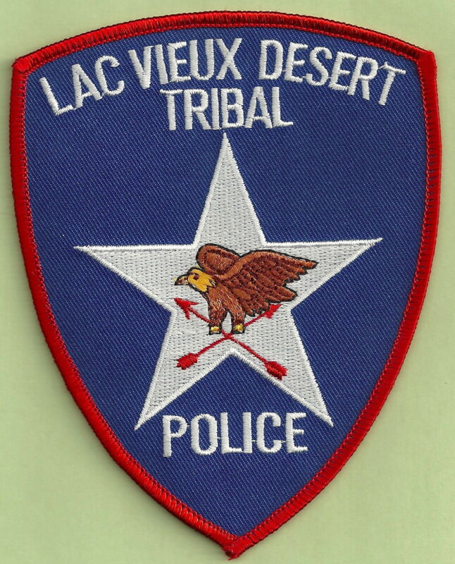 LAC VIEUX DESERT CHIPPEWA INDIAN TRIBAL POLICE SHOULDER PATCH
