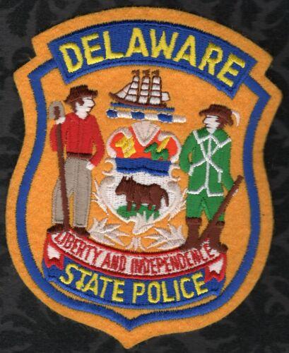Delaware State Police Shoulder Patch  Felt Front Cut Edge