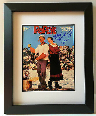 Psa Dna Popeye Shelley Duvall Signed Autographed Framed Movie Photo Coa  Olive