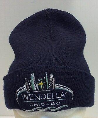 Wendella Boats Boat Chicago Illinois IL Winter Cap Hat Ski Cuff Blue Men Vintage