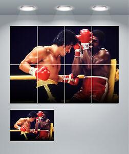 Rocky Balboa vs Apollo Creed Boxing Giant Wall Art poster ...