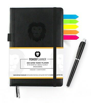 Power Planner Daily Weekly Monthly Goal Oriented Productivity 12 Month Planner