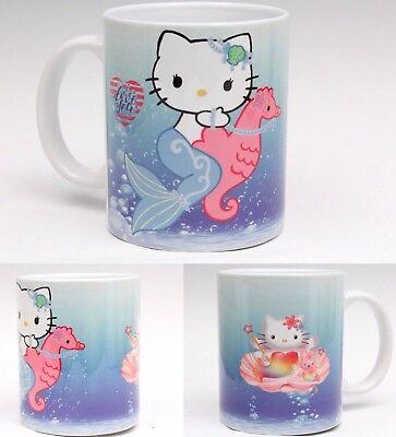 Hello Kitty Cups (Hello kitty mermaid sea original design 11 oz cup coffee mug cute US)
