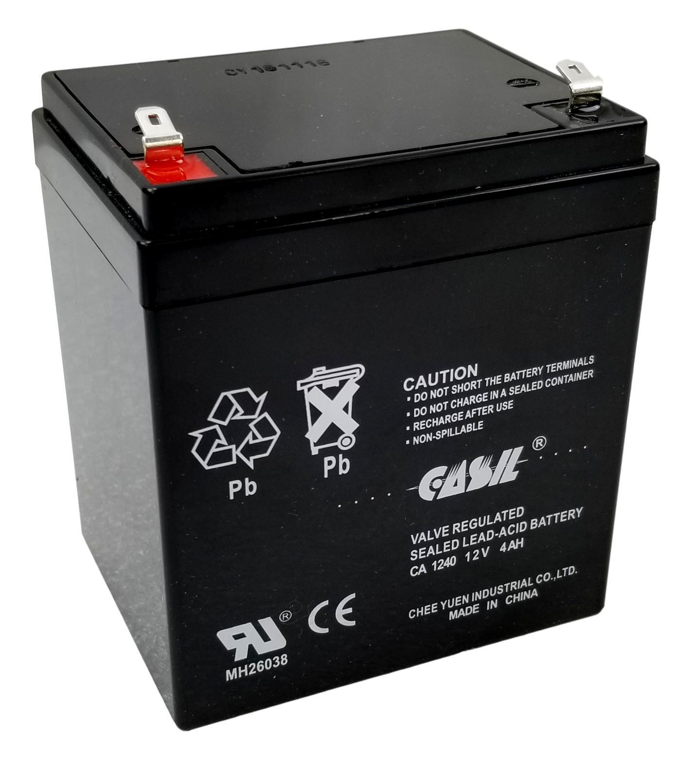 CASIL CA-1240 12V 4AH SLA Battery for Casil Ca1240 Alarm Con