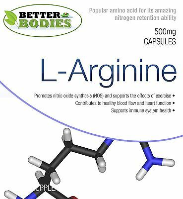 L-Arginin HCL Stickstoffmonoxid Muskel Wachstum Kapseln ()