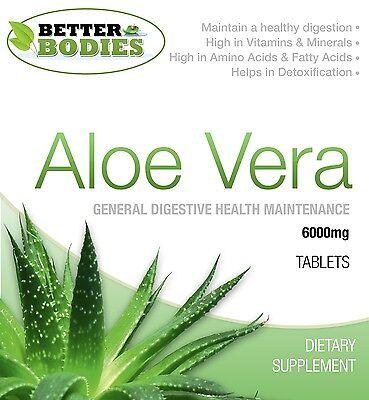 Aloe Vera Juice 6000mg Tablets Super Strength Colon Cleanse Better