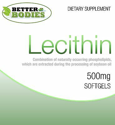 Lecithin Capsules 60 / 90 / 180 / 360 Softgels Diet Weight Loss Supplement Pills - Lecithin Softgel Capsules