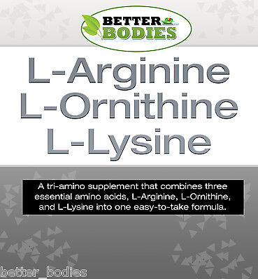 compresse di l-arginina l-ornitina l-lisina Better Bodies Aumentare La Massa