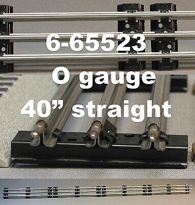 "LIONEL O GAUGE 40"" INCH LONG STRAIGHT TRACK LOT train tubular 0 bulk 6-65523 NEW"