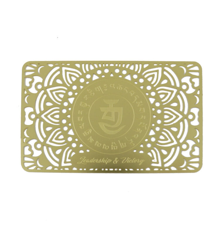 Feng Shui Leadership and Victory Talisman on Gold Card