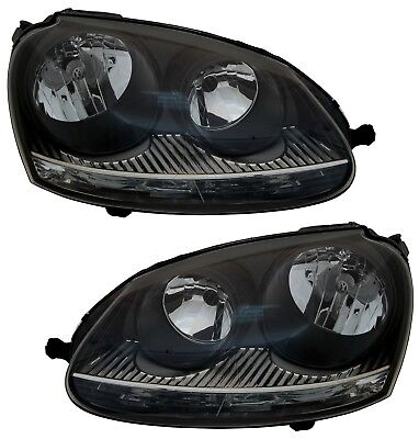 SCHEINWERFER VW GOLF 5 03-09 SATZ GTI-LOOK XENON-OPTIK H7 HALOGEN JETTA SET online kaufen