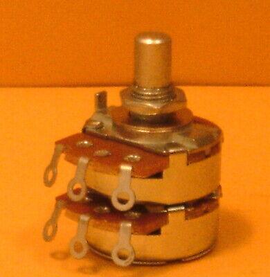 Alpha 100k Dualstereo Linear Potentiometer 14 Inch Shaftsolder Lug
