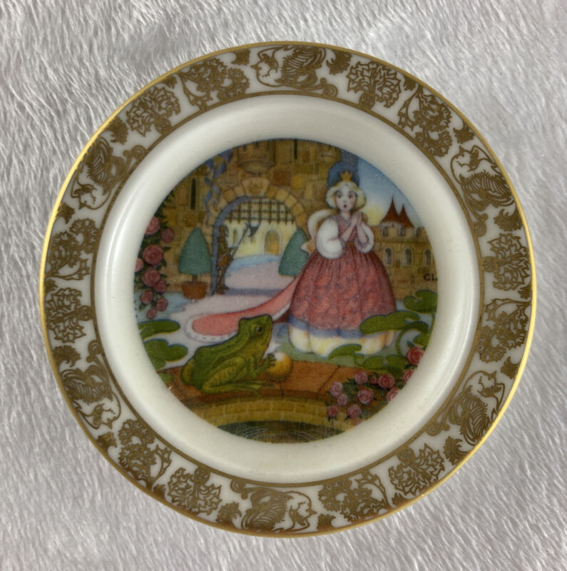 THE FROG PRINCE Mini Plate The Best Loved Fairy Tales Carol Lawson Franklin Porc