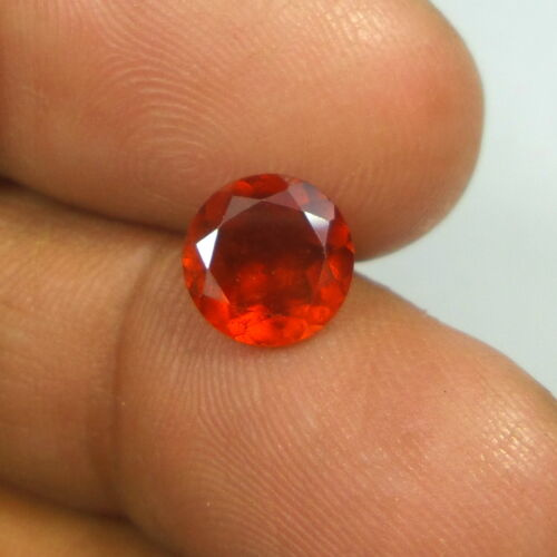8 MM Round Untreated Faceted Natural Hessonite Garnet Gemstone Calibrated Size
