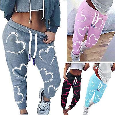 Damen Hose Jogginghose Sporthose Fitness Sport Schlafanzug Trainingshose Herz
