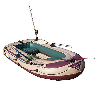 Solstice Swimline Voyager 30400 Inflatable 4 Person Fishing Leisure Boat Raft