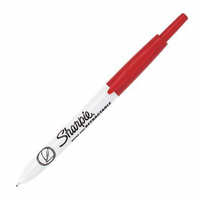 1735791 Sharpie Retractable Permanent Marker Ultra Fine Red Pack Of 2