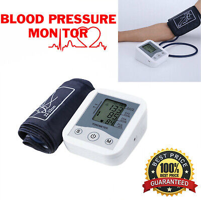 Tensiometro de Brazo Inteligente Deteccion Arritmias Digital Pulsometro LCD