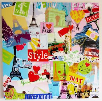 PARIS CANVAS PAINTING **for sale**!!! Molendinar Gold Coast City Preview