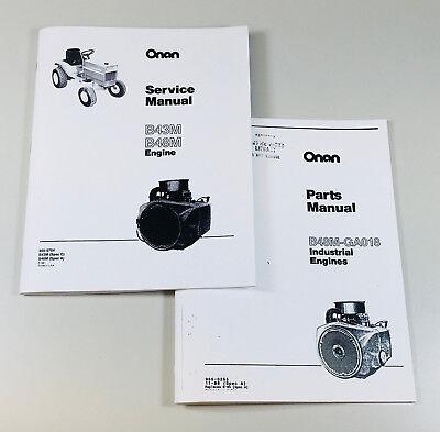 Massey Ferguson 1855 Garden Tractor Onan B48m 18hp Engine Service Parts Manual