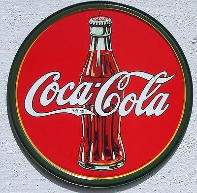 Coca Cola Vintage Flasche USA Metall Verkauf Schild Plakat