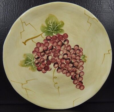 Tabletops Unlimited Cabernet Salad Plate Ribbed Red Grapes for sale  Fort Worth