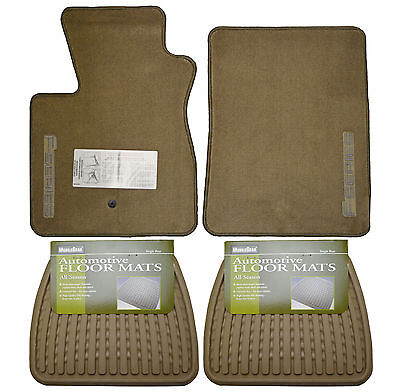 New Ford F 150 Floor Mats Oem Set Front W Rear All Weather Floormats Tan Truck