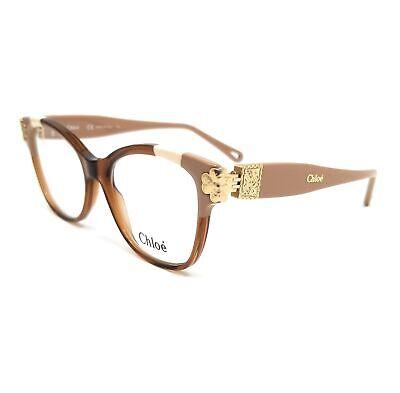 CHLOE Eyeglasses CE2738 246 Brown Patchwork Rectangle Women 53x18x140
