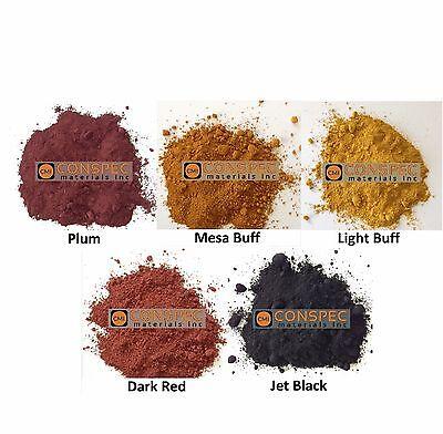5 Lbs Lot Concrete Color Cement Pigment Dark Red Jet Black Light Mesa Buff Plum
