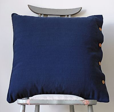 Cushion Cover Navy Blue Cotton Hamptons Nautical Throw Daybed Sofa Pillow (Hampton Daybed)