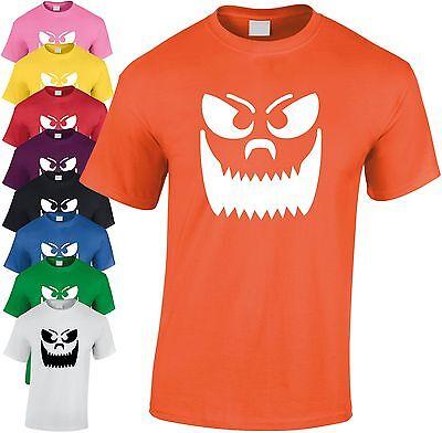 ne Kürbis Gesicht Kinder T-Shirt Unheimlich Jugend Geschenk (Große Zähne Halloween)